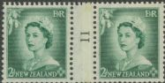 NZ Counter Coil Pair SG 726 1953 2d Queen Elizabeth II Join No. 11 (NCC/181)